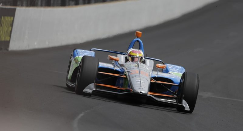 during the final practice session for the Indianapolis 500 IndyCar auto race at Indianapolis Motor Speedway, Friday, May 24, 2019, in Indianapolis. (AP Photo/Darron Cummings)